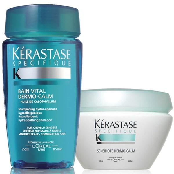 Kérastase Dermo-Calm Σετ για κανονικά έως μεικτά μαλλιά (Σαμπουάν & Μάσκα)